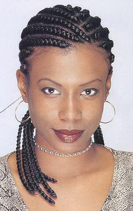 Black Women Cornrow Braid Styles