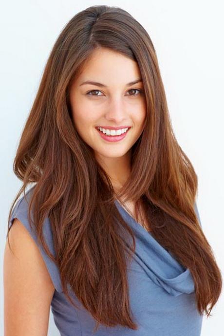 Long layered thick hair