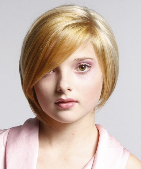 Round face hairstyle for women - photo#18