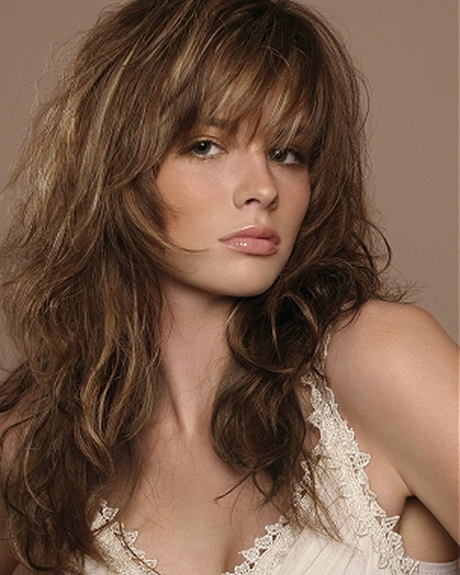 Shaggy long layered hairstyles