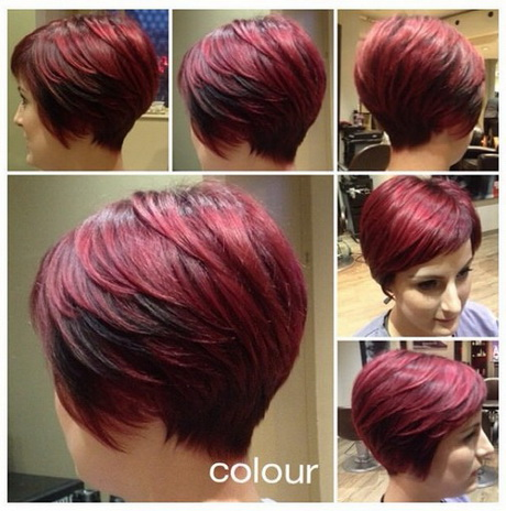 Short Hairstyles And Colours 2015