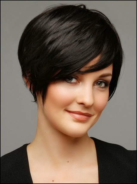 Short hairstyles for round faces 2015