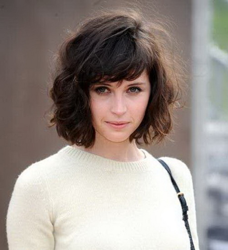 Pretty layered short hairstyle with bangs for 2015 side view of cute