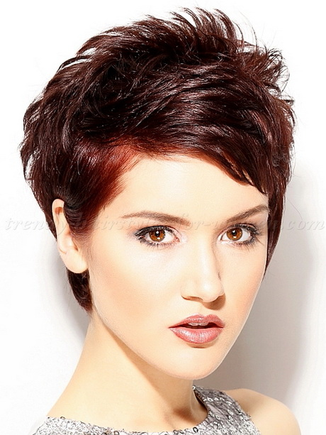 Short Hair Styles : Stylish Messy Short Haircut for Women 2015