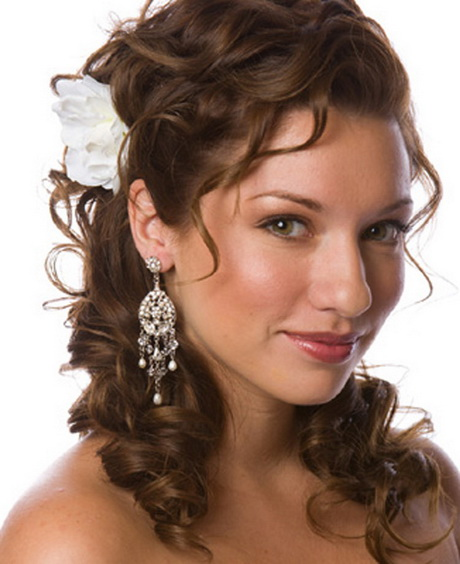 Curly Hairstyles For Long Hair For Wedding: Wedding Hair Ideas For Curly Hair