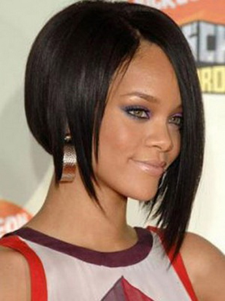Shining Short Straight Black African American Lace Wigs For Women 10 ...
