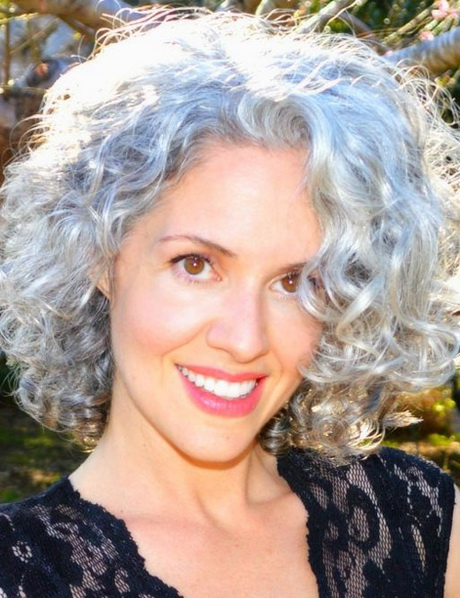 Short Curly Hairstyles for Gray Hair …