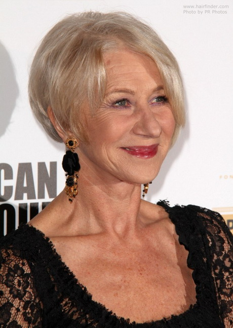 Helen Mirren proves that you're never too old for a trendy haircut ...