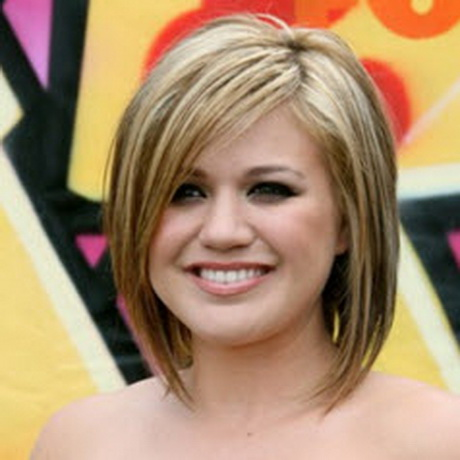 Hairstyles Round Face Double Chin