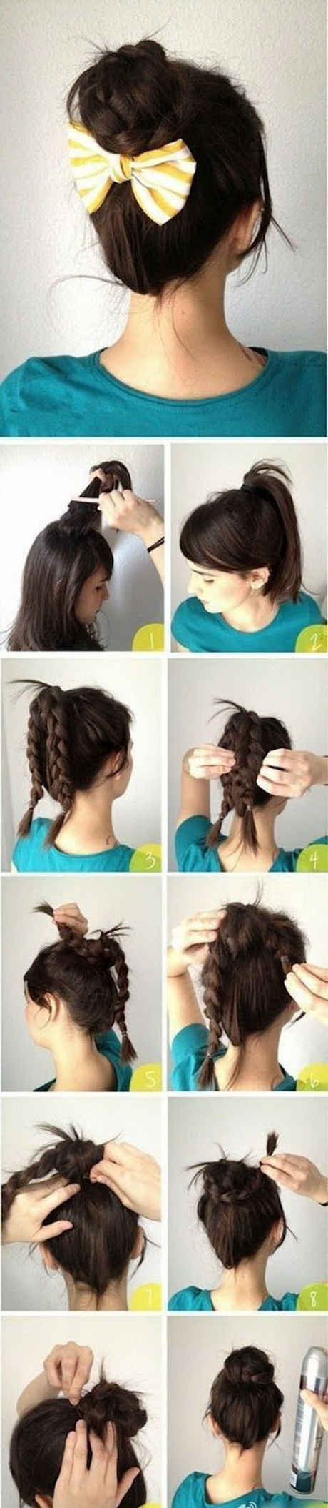 Hairstyles you can do at home