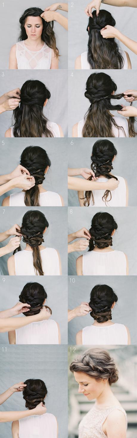 Прически простые на средние волосы на свадьбу