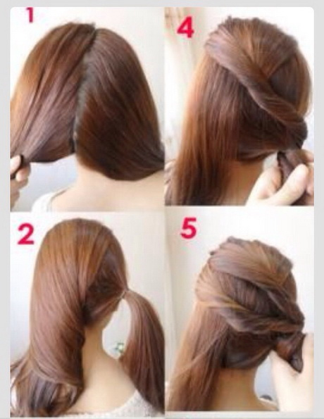 Hairstyles For Long Hair Work : Hairstyles With Long Hair Images Short Hair Step By Step Hairstyles ...