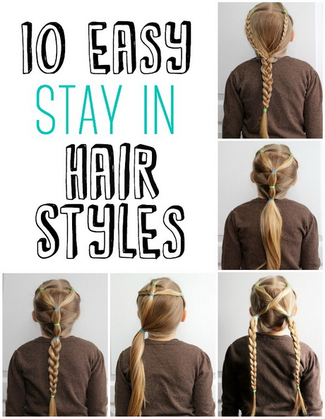 Hairstyles For Long Hair Easy For School : Simple and cute Hairdos for Girls- perfect 5 minute dos for school ...