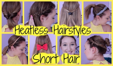 Heatless Hairstyles For Short Hair (Easy Quick!) | Orly Alexandra