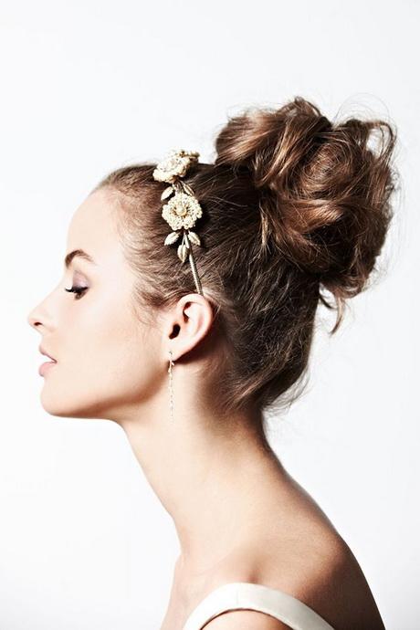 high fashion hairstyles : hair bun hairstyles headband