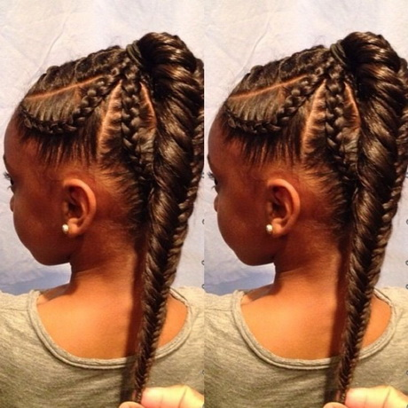 friends hairstyles : African American Braids: Fishtail Braid Hairstyle for Kids