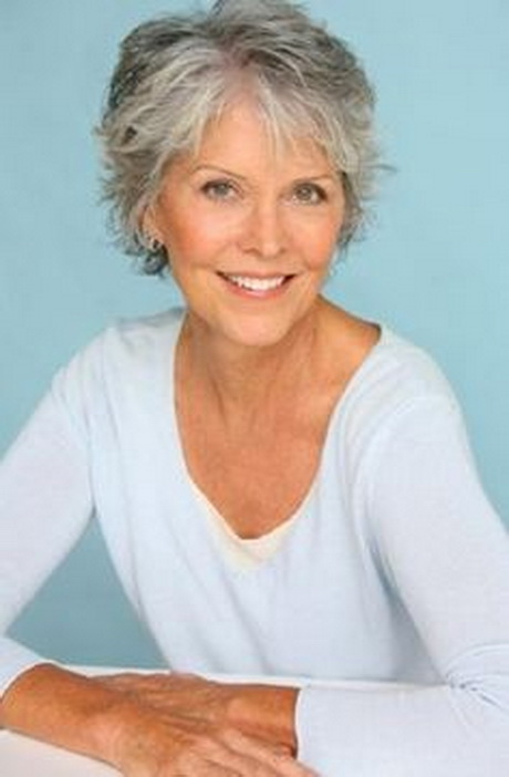 short hairstyles for grey hair women over 50 short choppy hairstyle ...