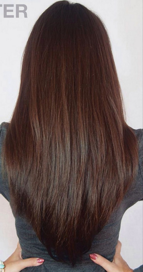 Layer haircut long hair