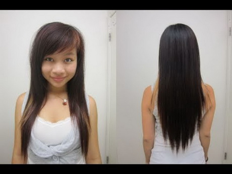 Hairstyles For V Cut Hair