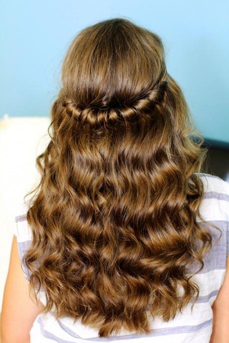 Hairstyles half up hal...