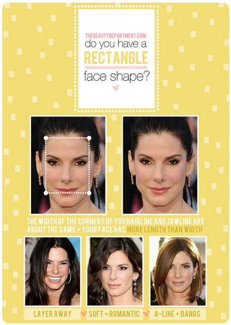 Hairstyles rectangular face shape