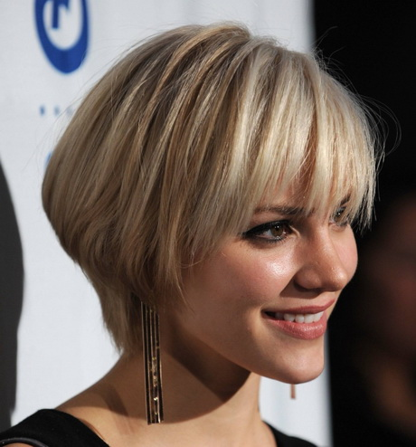 Over 60 Short Hair for Round Face