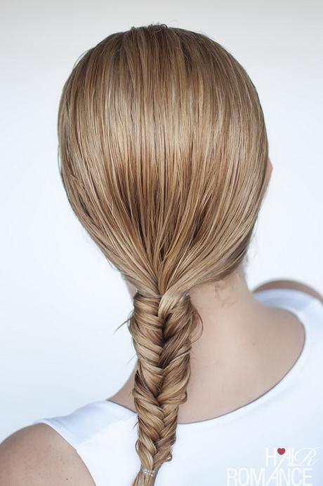 braid tutorial for wet hair: Fishtail braid. Hairstyles for wet hair ...