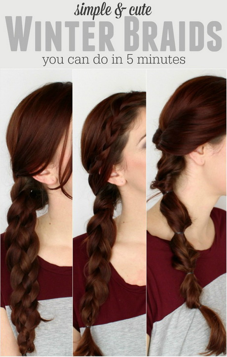 Simple Side French Braid with Braided Bangs