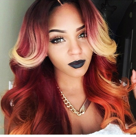 Red weave hairstyles