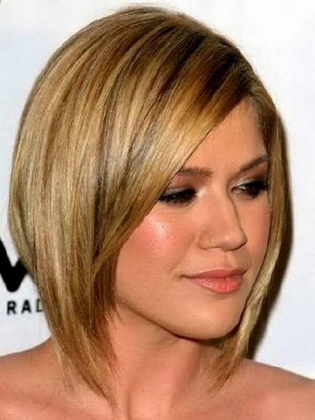 round face hairstyles 2017 : Latest Short Straight Hairstyles