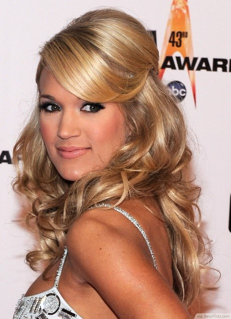 long hair formal styles down collections