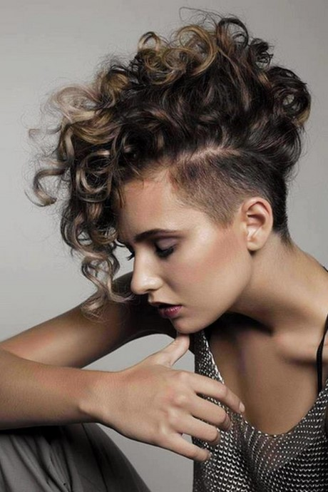 Curly Faux Hawk Hairstyle curly faux hawk hairstyle for women 2017