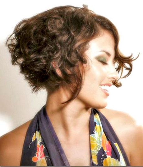 shoulder length straight hairstyles : ... Woman Short Haircuts Curly Hair Tanned Skin Brown Color Medium