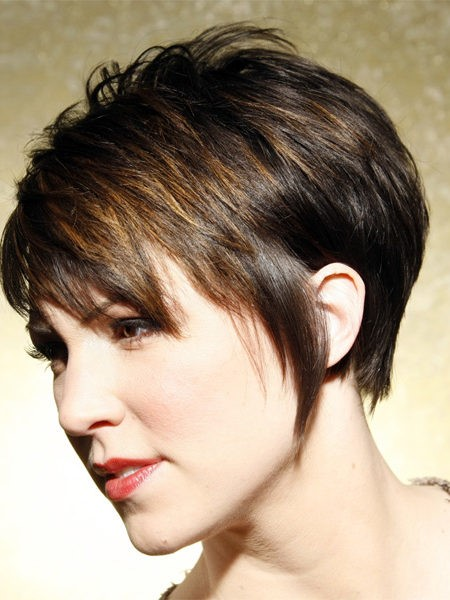 Short layered haircuts with bangs 2017