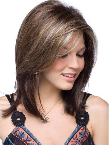 Swept Bangs Hairstyle Trends For 2017 Haircuts And. Shoulder Length ...