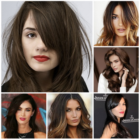 Trendy haircut for medium length hair