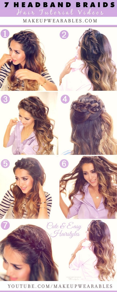 Hairstyle Easy : How to do 7 easy headband braids  cute everyday hairstyles