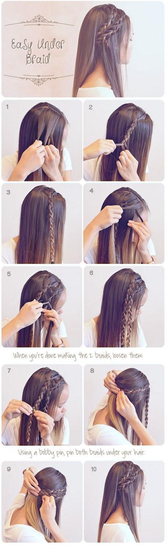 cute easy braided hairstyles for long hair