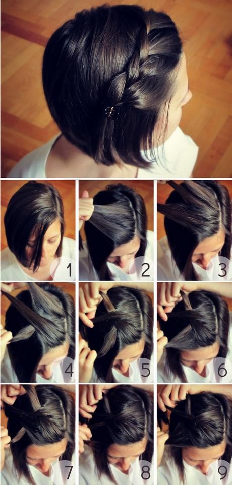Красивые прически для коротких волос на каждый день фото