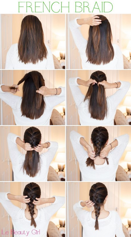 Hairstyles For Long Hair To Sleep In : ... hair. Section your hair into three and start braiding like the way you