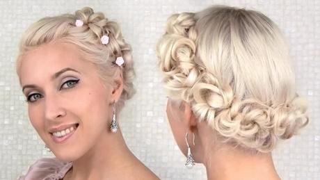 10 EASY UPDO Tutorials FOR SHORT HAIR   Milabu – YouTube … Wedding Pin Up Hairstyles ...