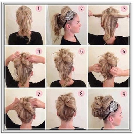 easy updo hairstyles for medium hair. Black Bedroom Furniture Sets. Home Design Ideas