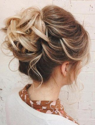 70 Darn Cool Medium Length Hairstyles for Thin Hair | Blonde updo Updo and Blondes