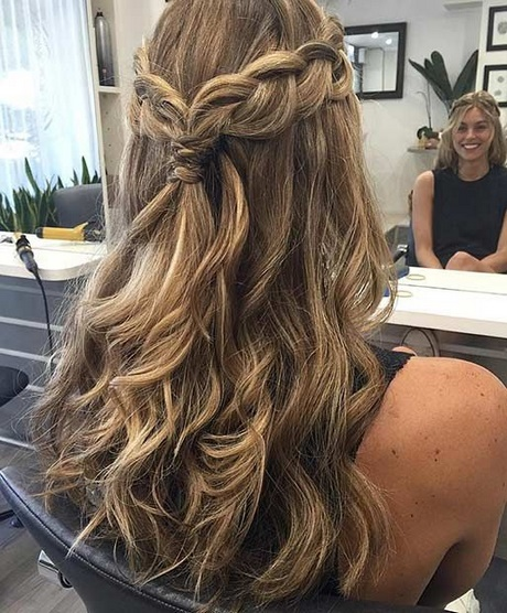 Prom Hairstyles For Long Hair Down With Braids
