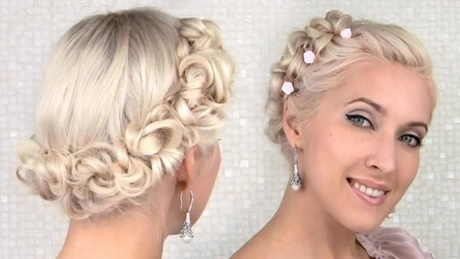 Cutest Twisted Half Up Short Hair for Prom. Simple Prom Hairstyles ...