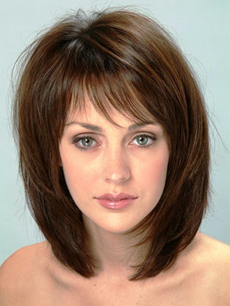 medium length hairstyles for thick hair  nadezhda in Layered haircuts