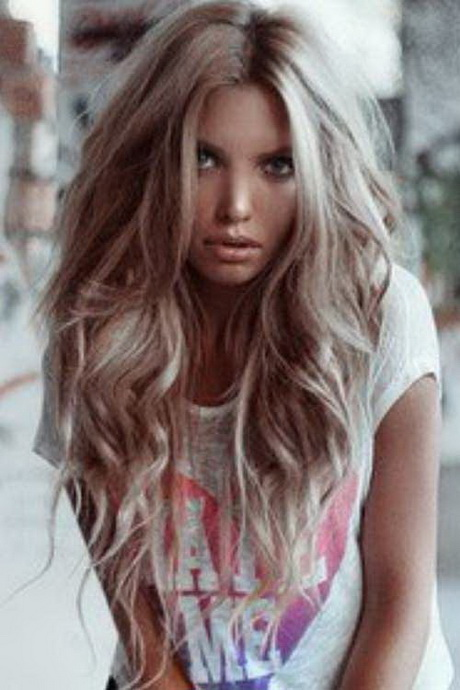 Pale Pink Blonde Hair on Hairstyles For Long Haired