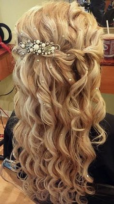 Half Up And Half Down Prom Hairstyle LONG HAIRSTYLES