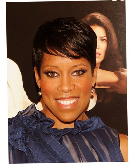 Celebrity Short Hairstyles Black Women Photo