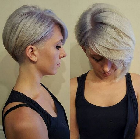Short Hairstyles with Long Bangs – Shaved Haircuts 2015 – 2016